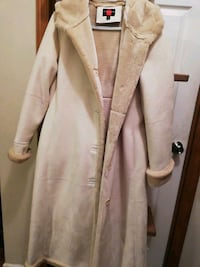 Gallery Genuine White Leather Coat Size M Mount Airy, 21771