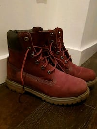 Winter Waterproof Timberland Boots (red)  Vancouver, V5N 4S4