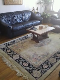 white and brown floral area rug Montreal, H3W