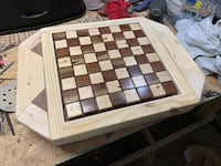 Homemade chess/checkers game table, with multi colored light underneath Wichita, 67208