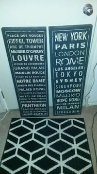two black and white wooden wall decors Edmonton, T6C 3V7