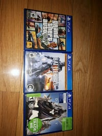 three assorted PS4 game cases Ottawa, K2B 7T3