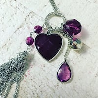 silver-colored and purple gemstone pendant necklace Ashburn, 20148