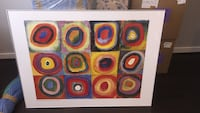 Kandinsky print framed artwork; light weight  Washington, 20010