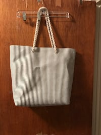 women's gray tote bag