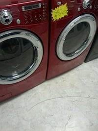 two red front-load clothes washer and dryer set Laurel, 20707