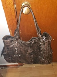 Skin Printed Brown Handbag