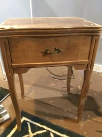 New Home antique cabinet sewing machine