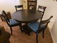 Solid wood black round table & 4 chairs from Target. Denver, 80205