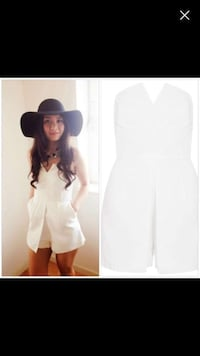 Topshop structured romper brand new size 4