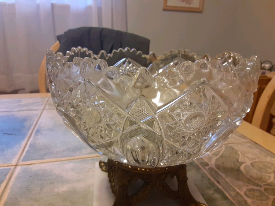 Photo 8 INCHES Tall THIS is Also REALLY nice BRASS Crystal Glass and M