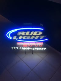 white and red budlight neon signage Palm Harbor, 34684
