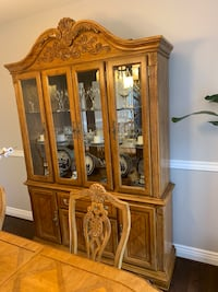 China Cabinet with Dining Table