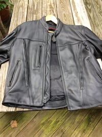 Men's Leather Motorcycle Jacket 36 km