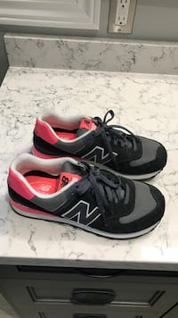 pair of black-and-red New Balance sneakers Aurora, L4G 1H5