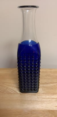 Glass bottle, cobalt blue