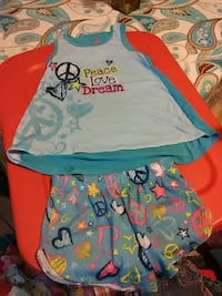 toddler's blue tank top and shorts