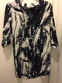 Women's black and white floral dress 536 km