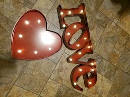 LOVE and HEART sign