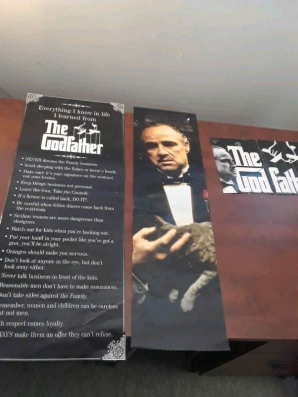 Godfather posters free with any purchase