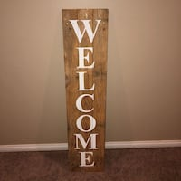 Hand made welcome sign Evansville, 47725