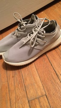 Gray Adidas low top sneakers