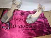 Silver Tango Shoes made by Turquoise (Size 36cm/9i 38 km