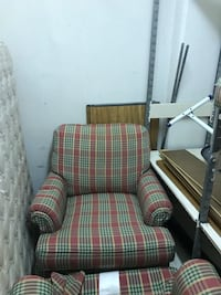 Ethan Allen chairs, mattress with box spring headboard foot Stool Fairfax