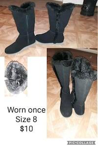 pair of black suede boots Charles Town, 25414
