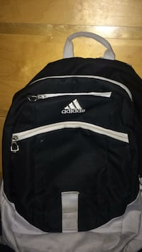 black and white Adidas backpack Mission, V4S