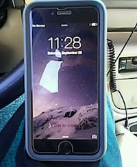 black iPhone 5 with blue case Merced County