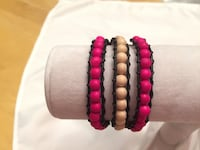 Wrap leather and wood bracelet  Calgary, T2W 3P3