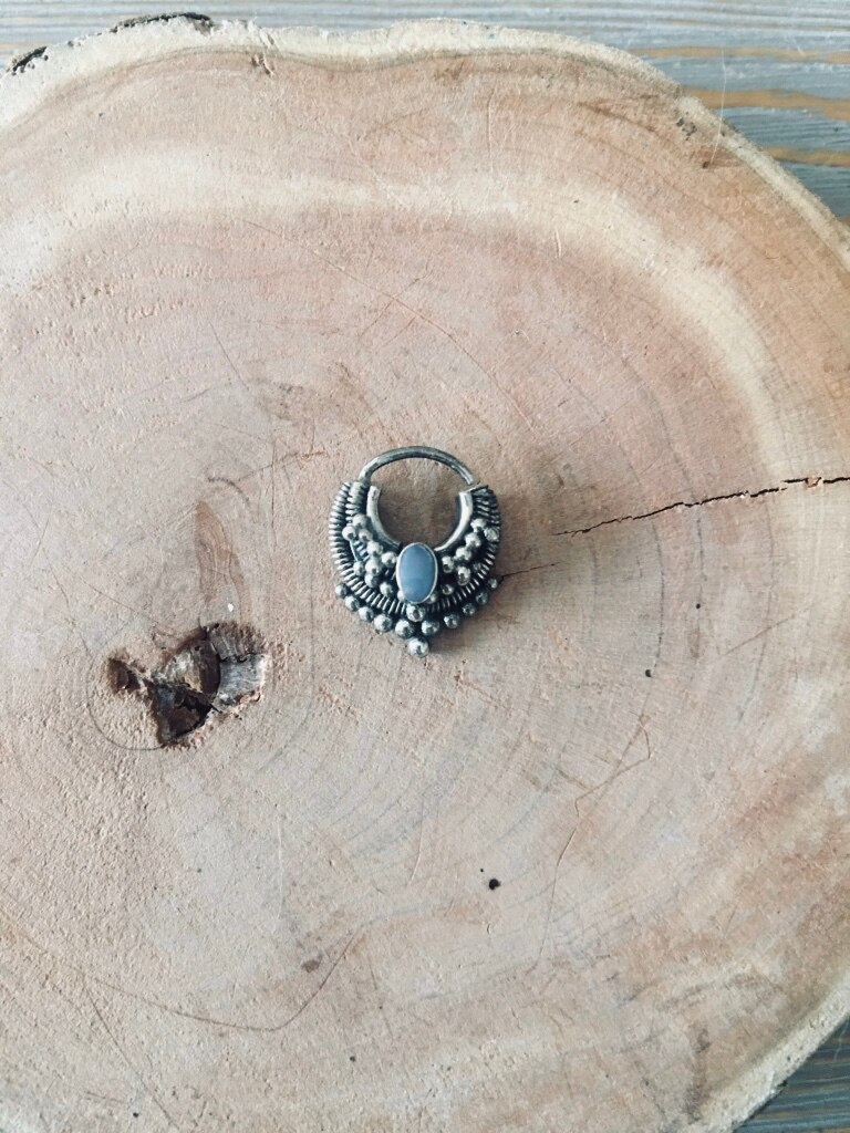 Photo Sterling Silver - Opal - Nose Ring
