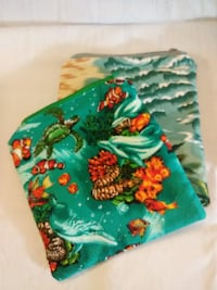 green and red floral textile Honolulu