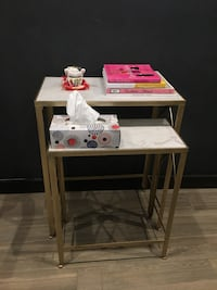 Nesting  side tables: gold & marble Toronto, M4W 2H2