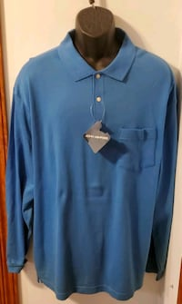 John Ashford Solid Blue Long Sleeve Shirt New With Tags Middletown, 21769
