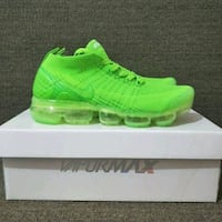 pair of green Nike vapor max Sterling, 20166