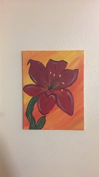 painting of red petaled flower Tulare, 93274