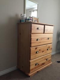 Brown wooden 5-drawer chest Edmonton, T5L 1A9