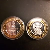 two round gold-colored coins Ontario