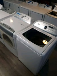 WHIRLPOOL CABRIO TOP LOAD WASHER AND GAS DRYER SET WORKING PERFECTLY