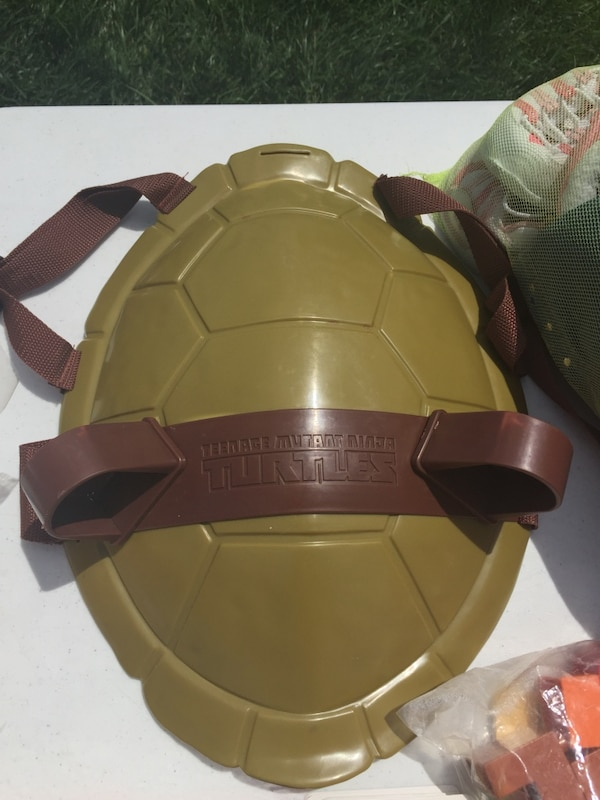 TMNT shell with Leo mask