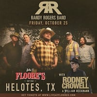 Randy Rogers Band Tickets  San Antonio, 78254