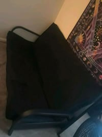 Mainstays Black Metal Arm Futon with Full Size Mat