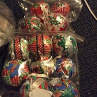 Handmade fabric ornaments price is for all 12 together  Kingsport, 37660