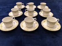 9 cups and saucer contemporary noritake Toronto, M2R 3N1