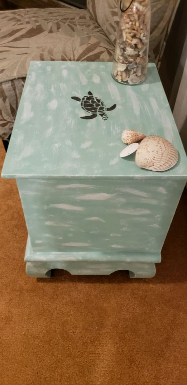 Coastal nightstand/side table $50 obo 7689aeeb-8a71-4065-80f7-4562fb807cfd