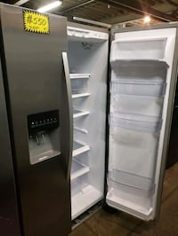 K. side by side doors fridge NEW scratch and dent  Baltimore, 21223