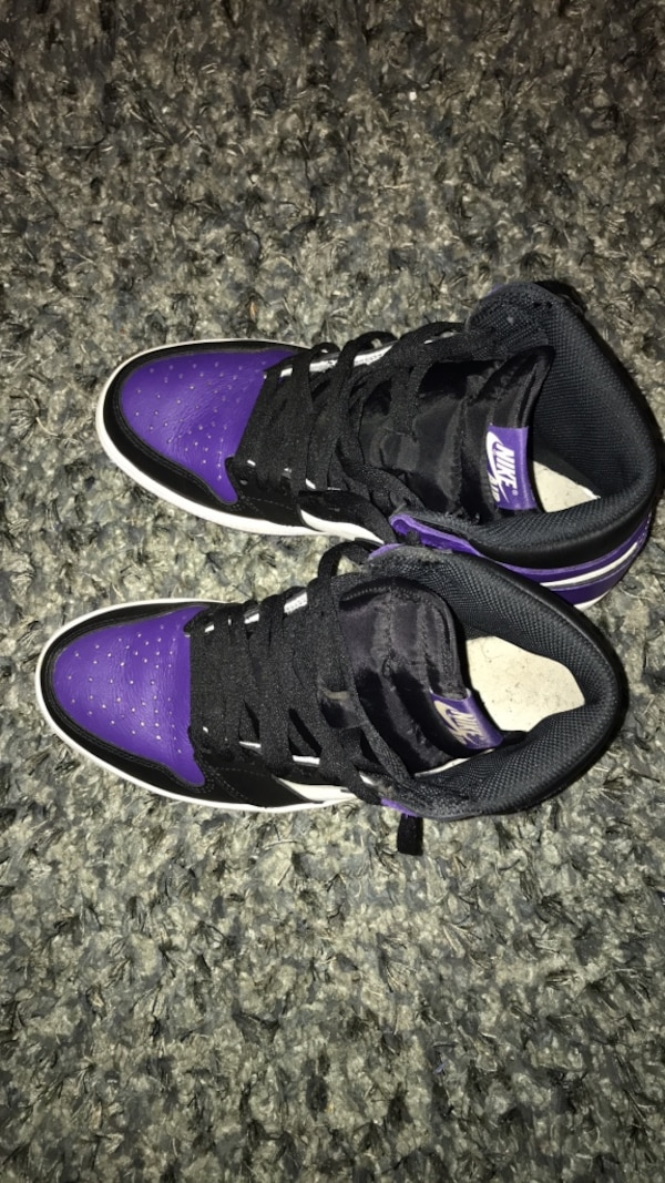7e25c39172f1 Used Pair of black-and-purple nike basketball shoes for sale in Irvington -  letgo