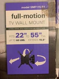 "TV Wall Mount 22"" to 55"" NEW/NOT USED Alexandria, 22312"